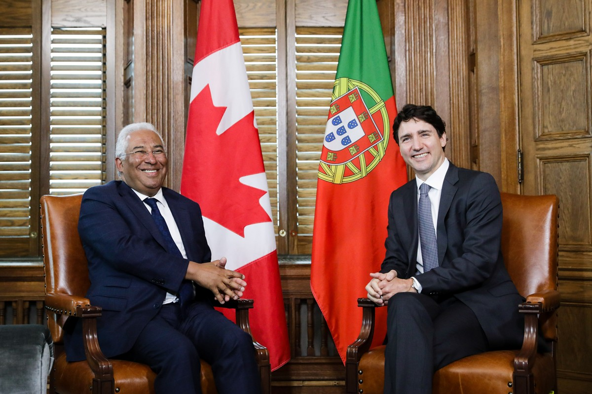 Portugal: Canada PM hails Portuguese community's 'success' at meeting with Costa